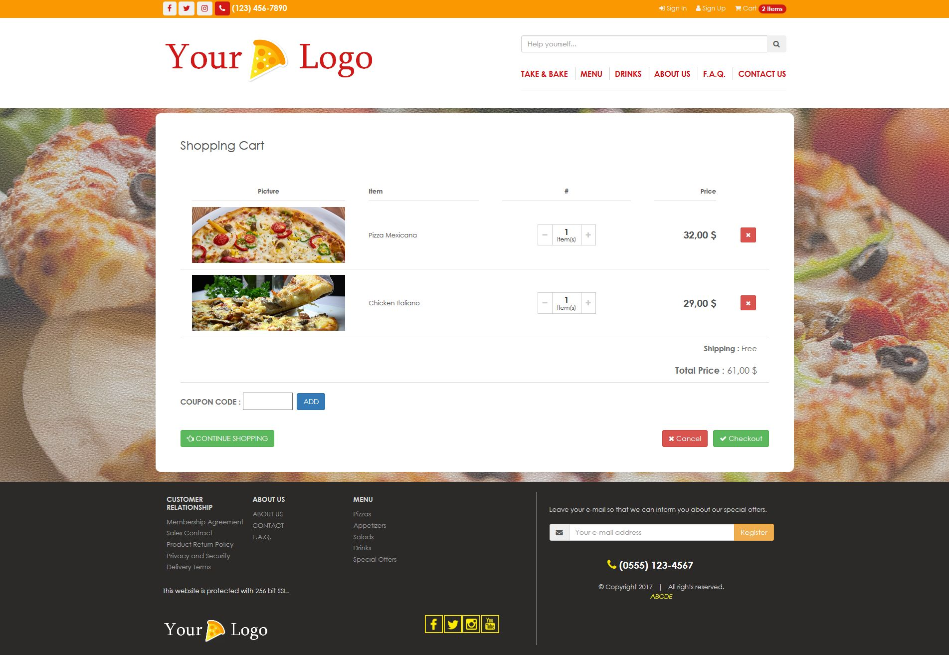 Simple HTML5 E-Commerce Template For Food Screenshot 5