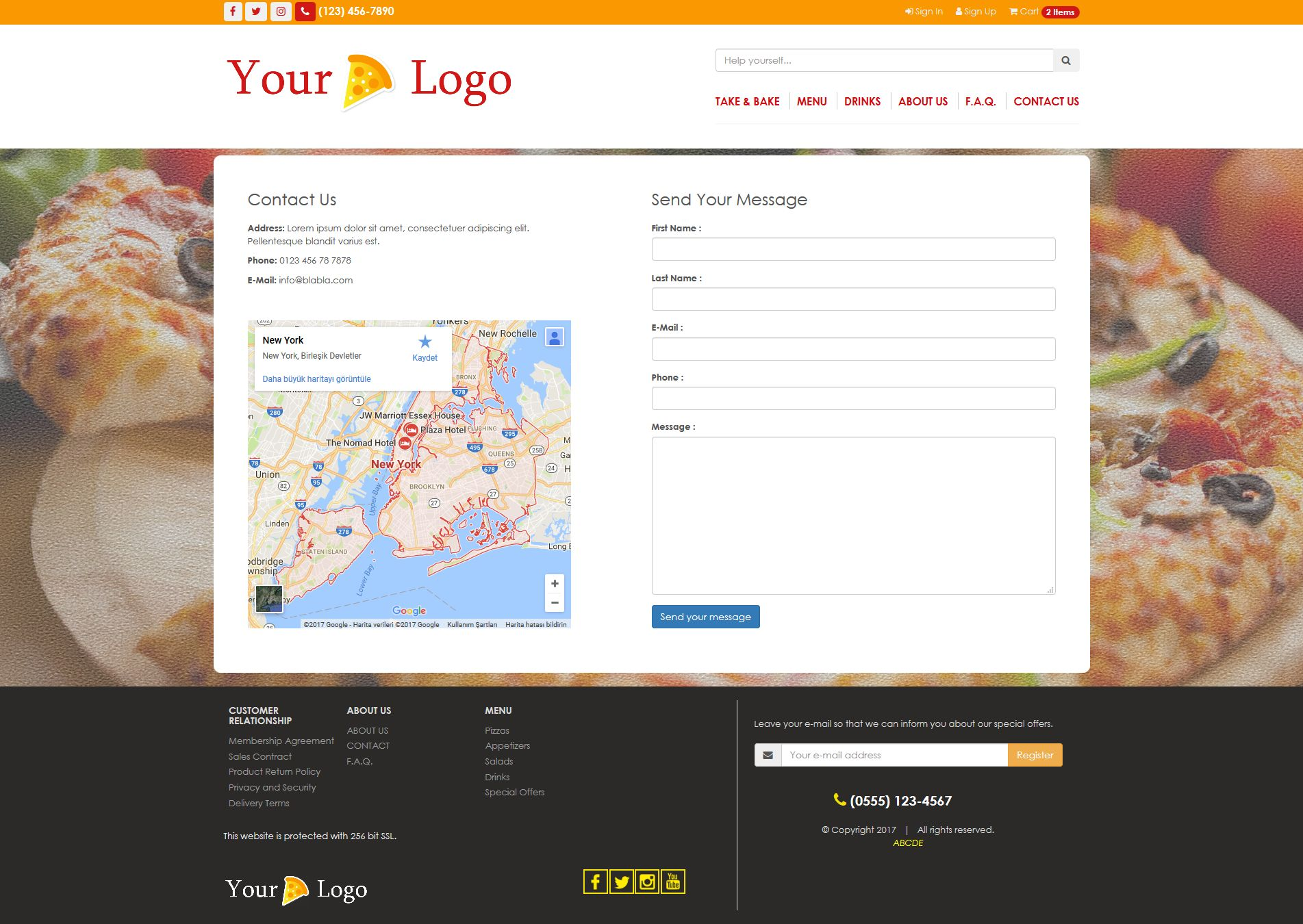 Simple HTML5 E-Commerce Template For Food Screenshot 7