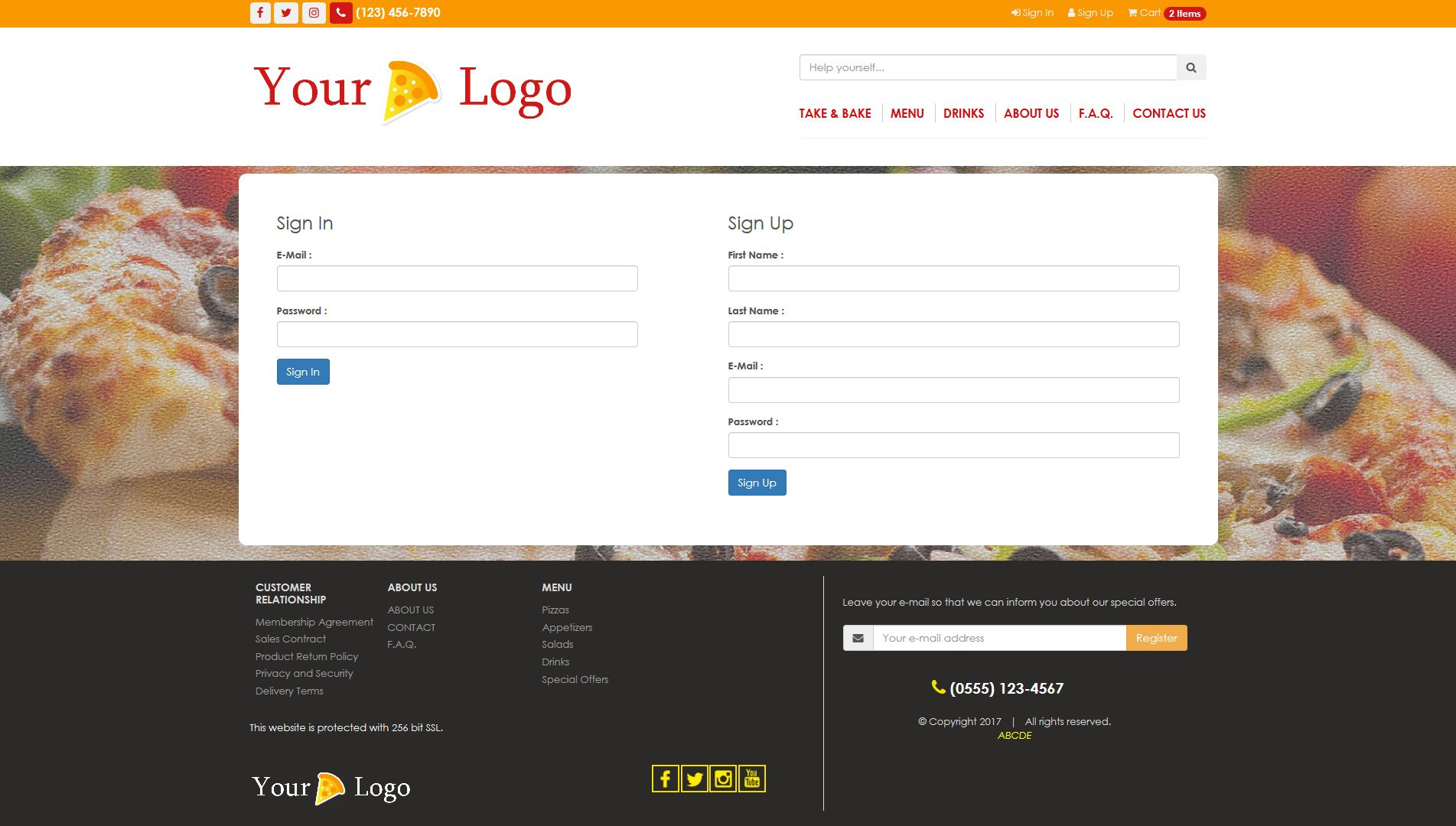 Simple HTML5 E-Commerce Template For Food Screenshot 9