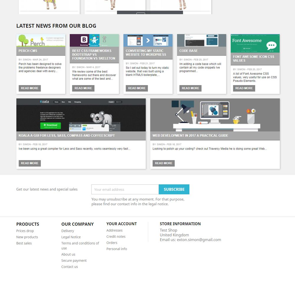 WordPress Recent Blog Posts for PrestaShop Screenshot 1