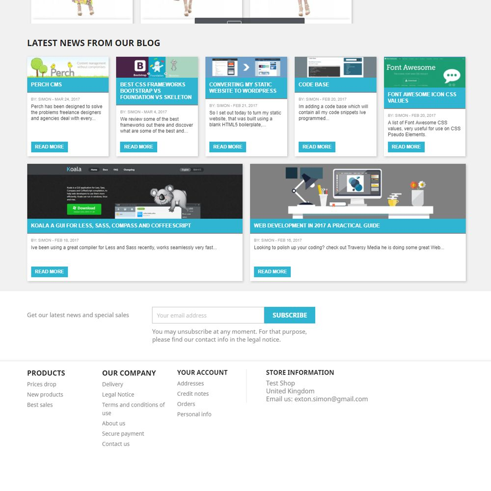 WordPress Recent Blog Posts for PrestaShop Screenshot 2