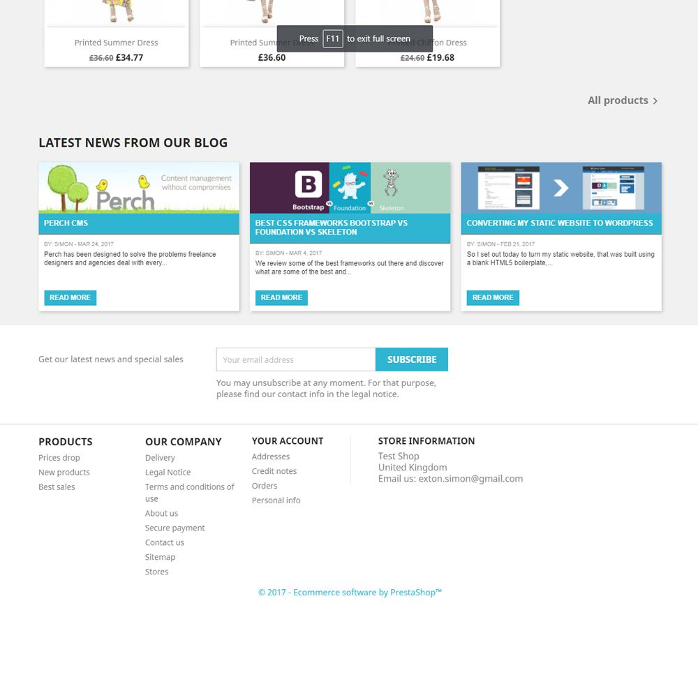 WordPress Recent Blog Posts for PrestaShop Screenshot 3