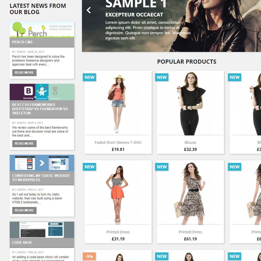 WordPress Recent Blog Posts for PrestaShop Screenshot 5