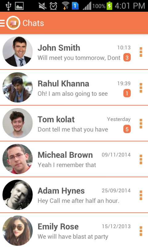 JustChat - Android Messenger App Template Screenshot 6