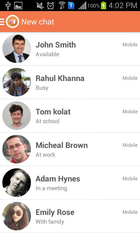 JustChat - Android Messenger App Template Screenshot 10