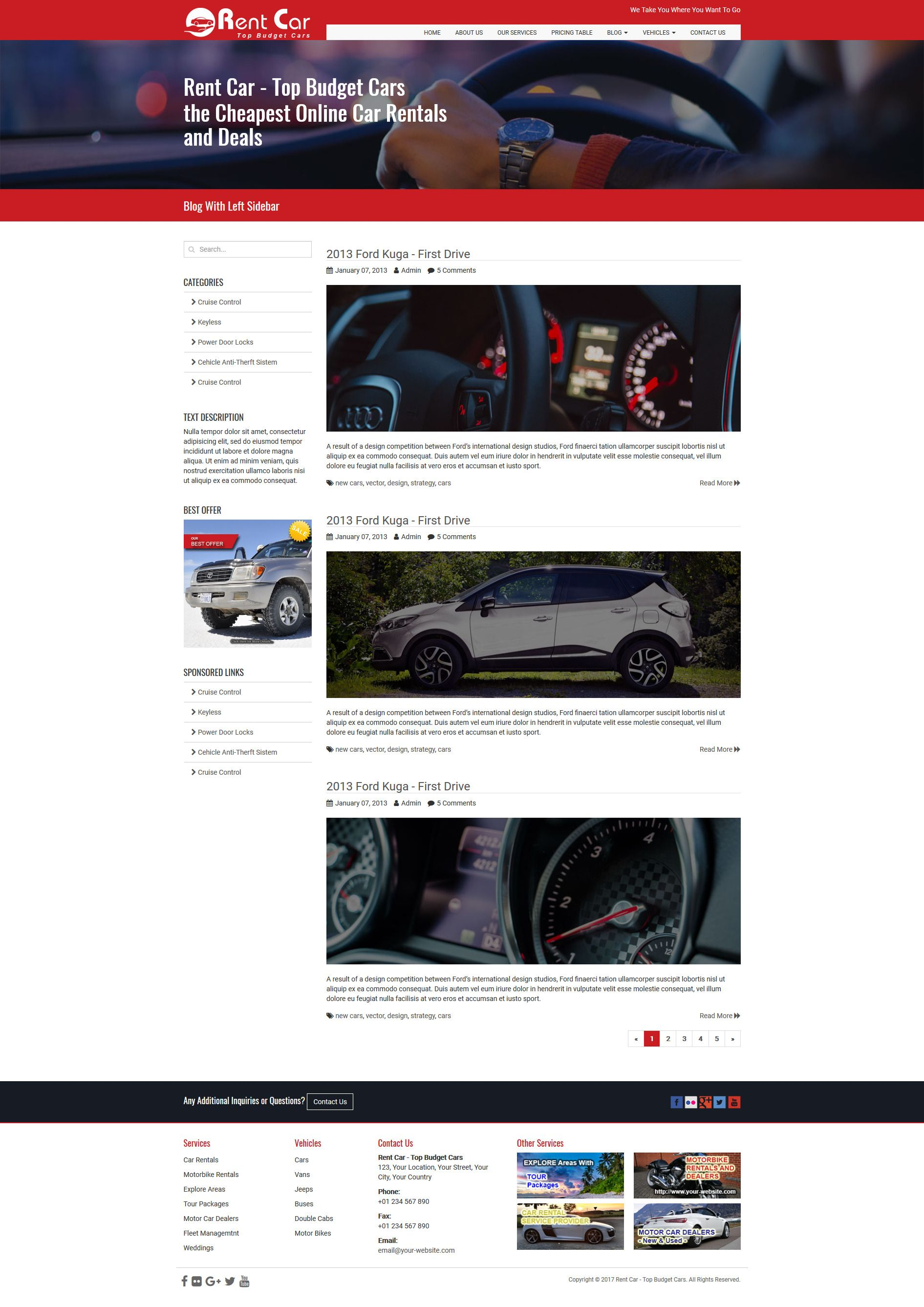 Rent Car HTML Template Screenshot 6
