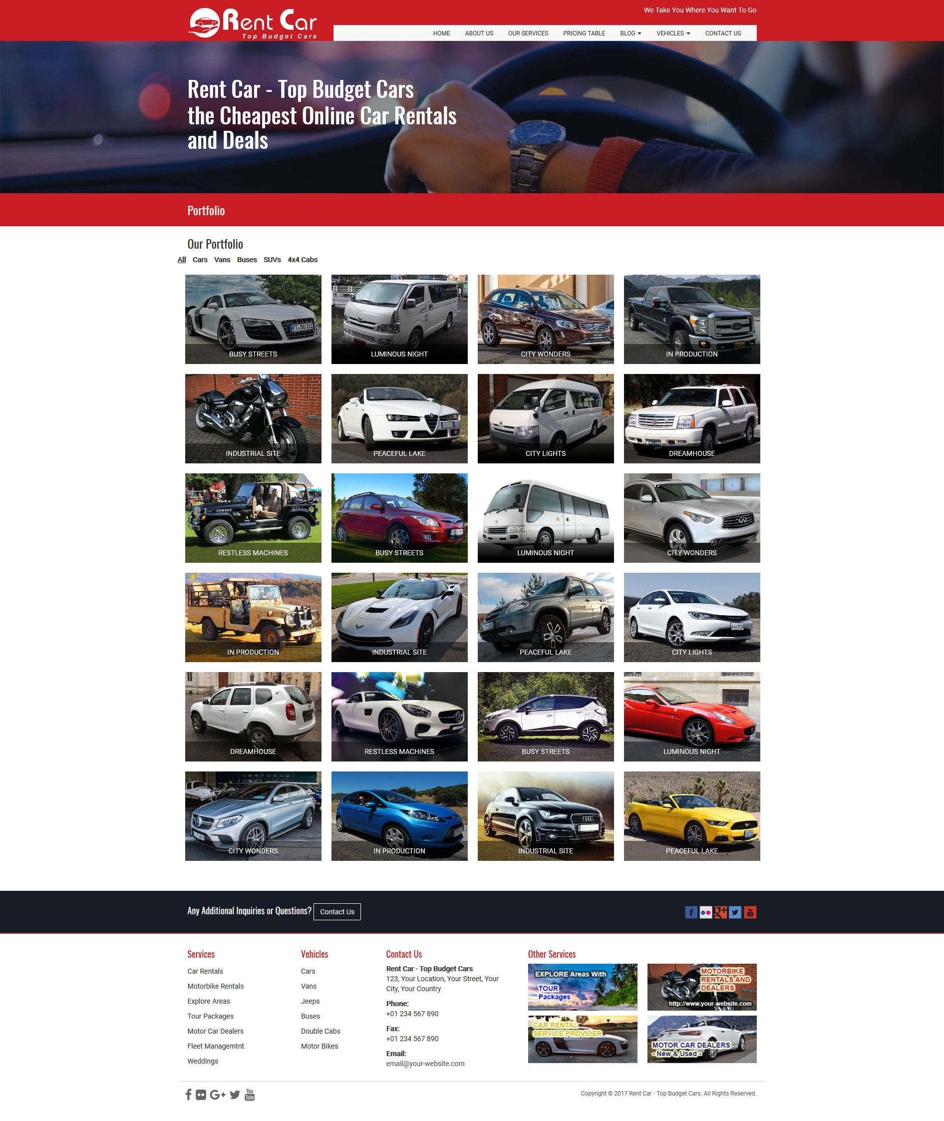Rent Car HTML Template Screenshot 8