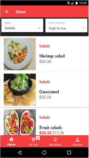 Foody Ionic 3 Full Restaurant App With PHP Backend Screenshot 6