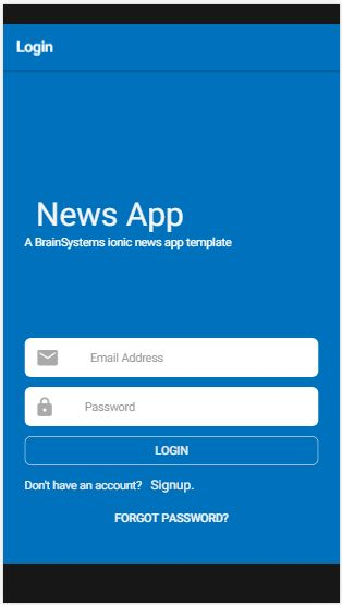 NewsApp - Ionic 3 news Application Screenshot 4