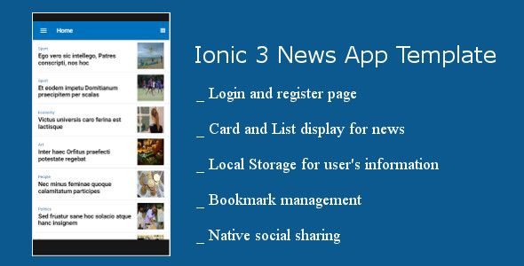 NewsApp - Ionic 3 news Application Screenshot 6