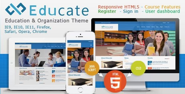 Educate - Responsive HTML5 Template Screenshot 1