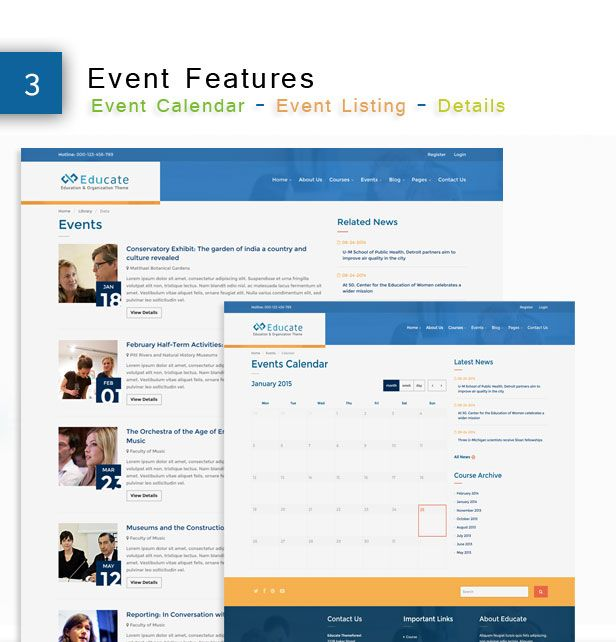Educate - Responsive HTML5 Template Screenshot 4
