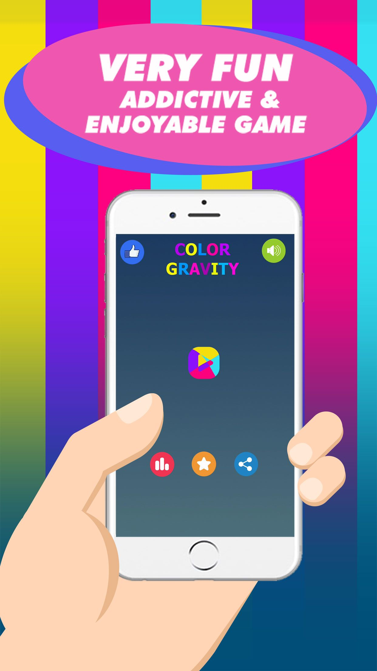 Color Gravity - Buildbox Game Template Screenshot 1