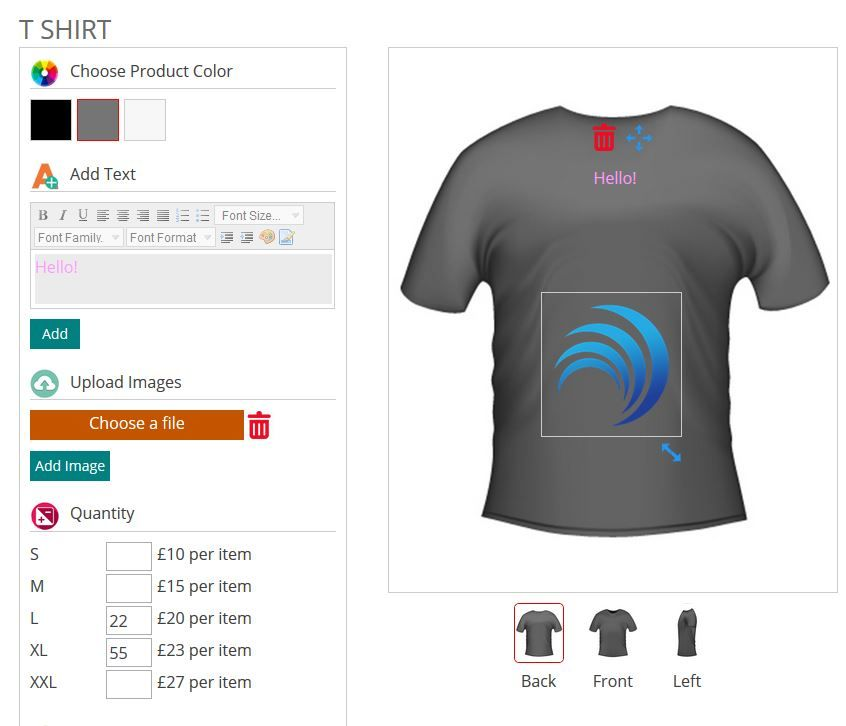 WooCommerce Product Designer Plugin Screenshot 4