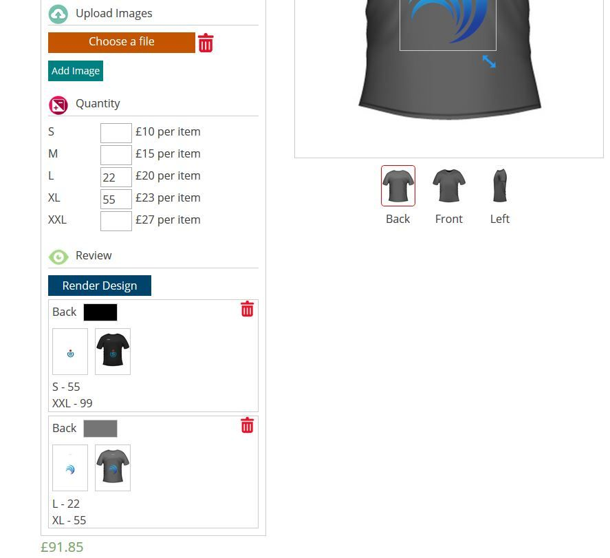 WooCommerce Product Designer Plugin Screenshot 5