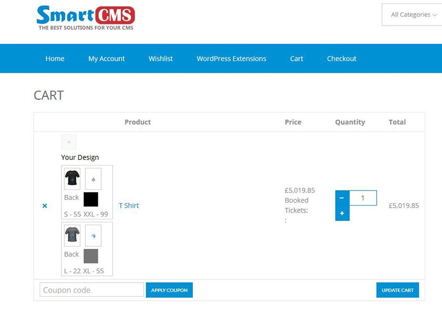 WooCommerce Product Designer Plugin Screenshot 6