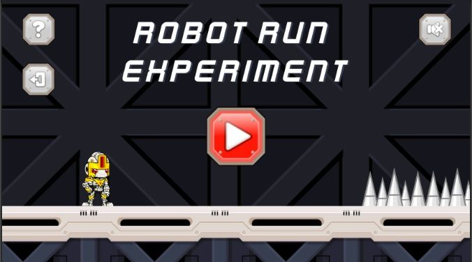 Robot Run Experiment - Unity Source Code Screenshot 1