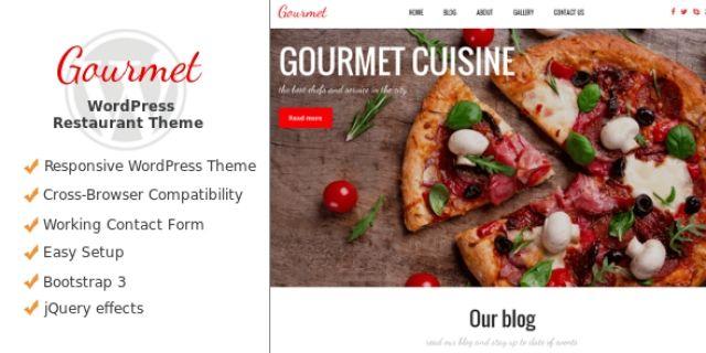 Gourmet - Catering WordPress Theme