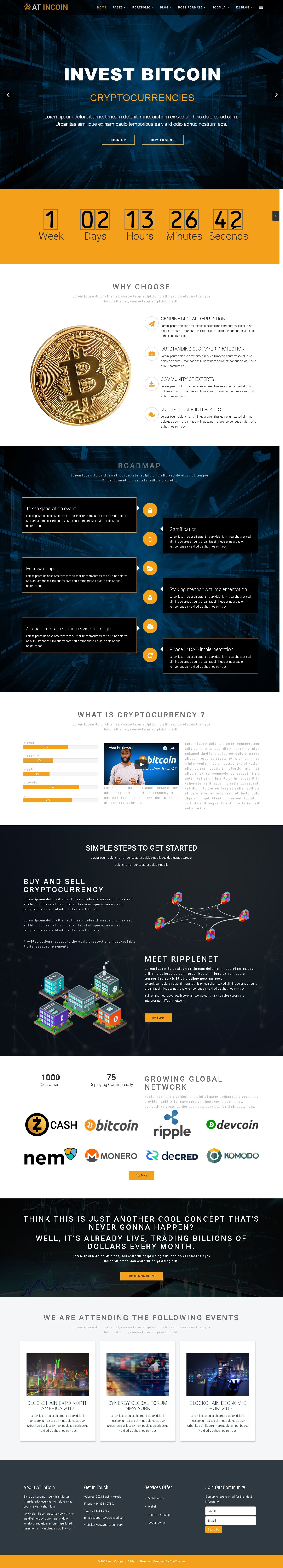 AT InCoin – Cryptocurrency Joomla Template Screenshot 1