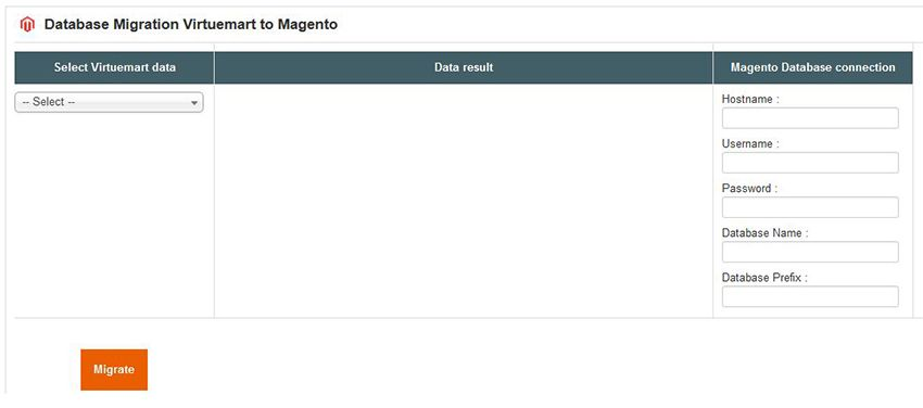 Database Migration from VirtueMart to Magento Screenshot 2