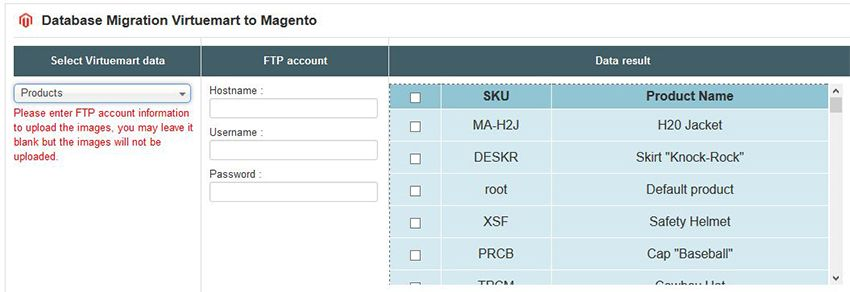 Database Migration from VirtueMart to Magento Screenshot 3