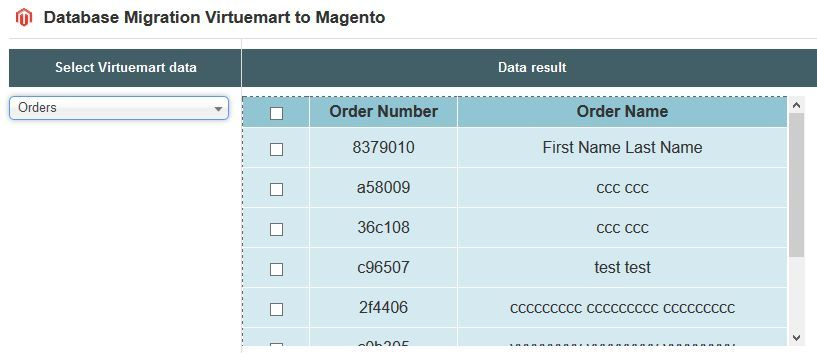 Database Migration from VirtueMart to Magento Screenshot 4