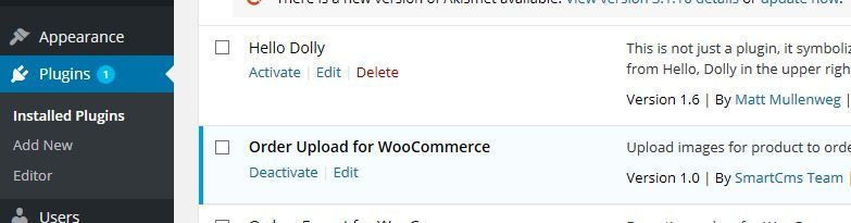 WoCommerce Order Upload Plugin Screenshot 1