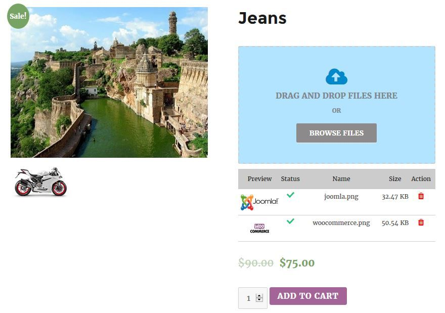 WoCommerce Order Upload Plugin Screenshot 2