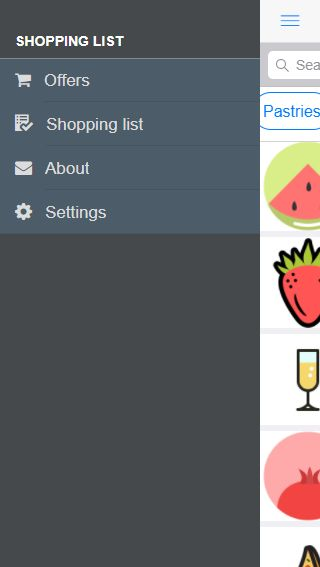 Shopping List App And Backend - Cordova Template Screenshot 3