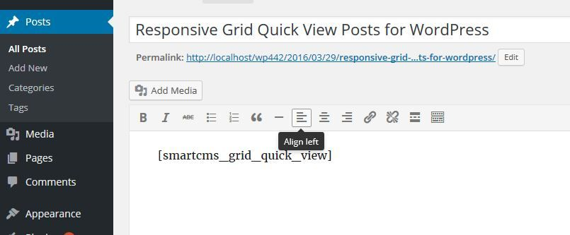 Responsive Grid Quick View Posts for WordPress Screenshot 6