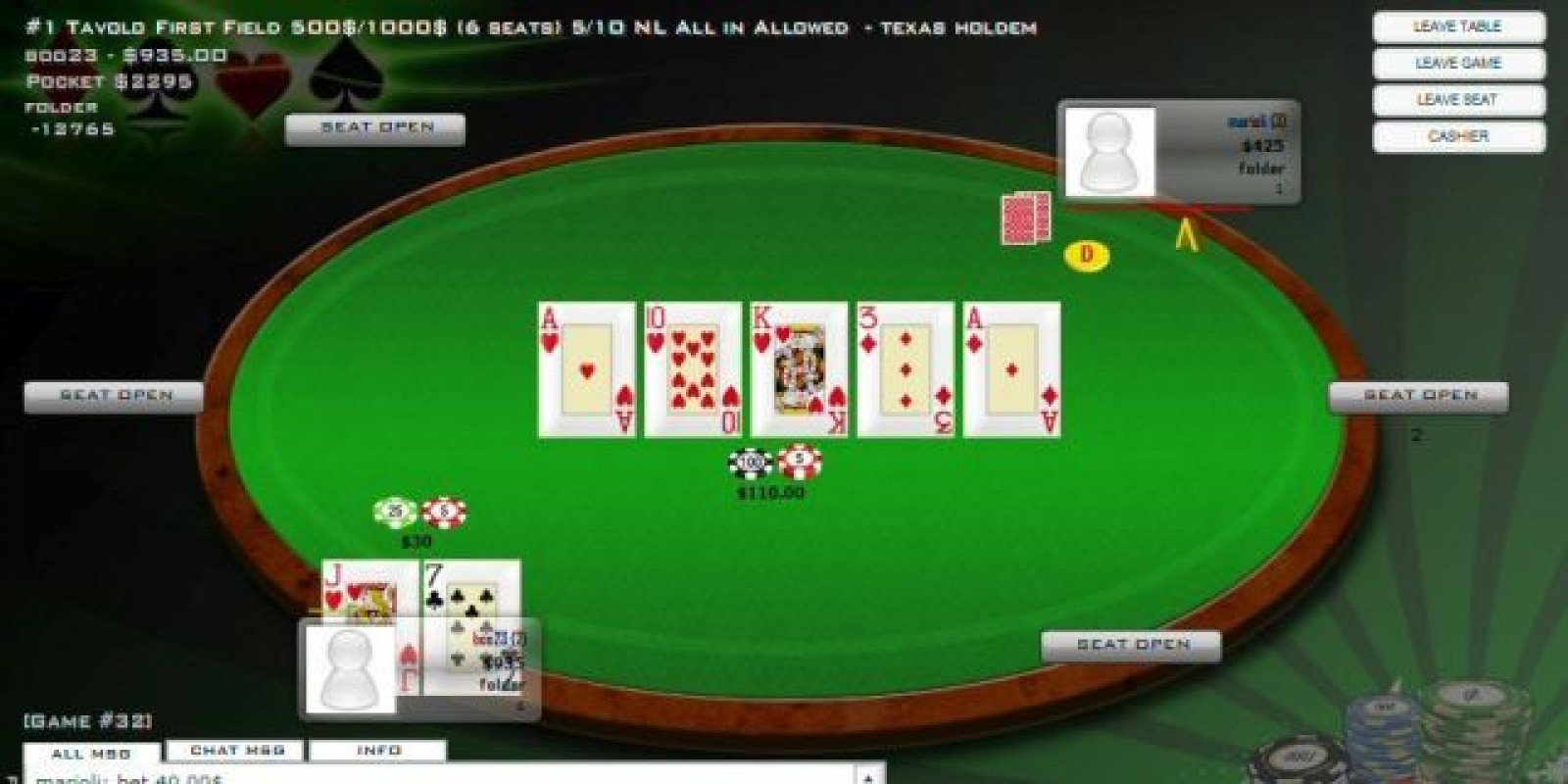 Free online multiplayer texas holdem games