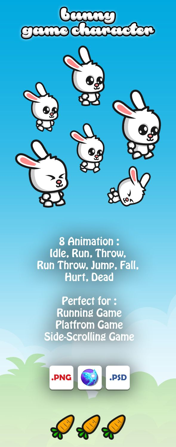 Bunny Game Character Sprites Screenshot 1