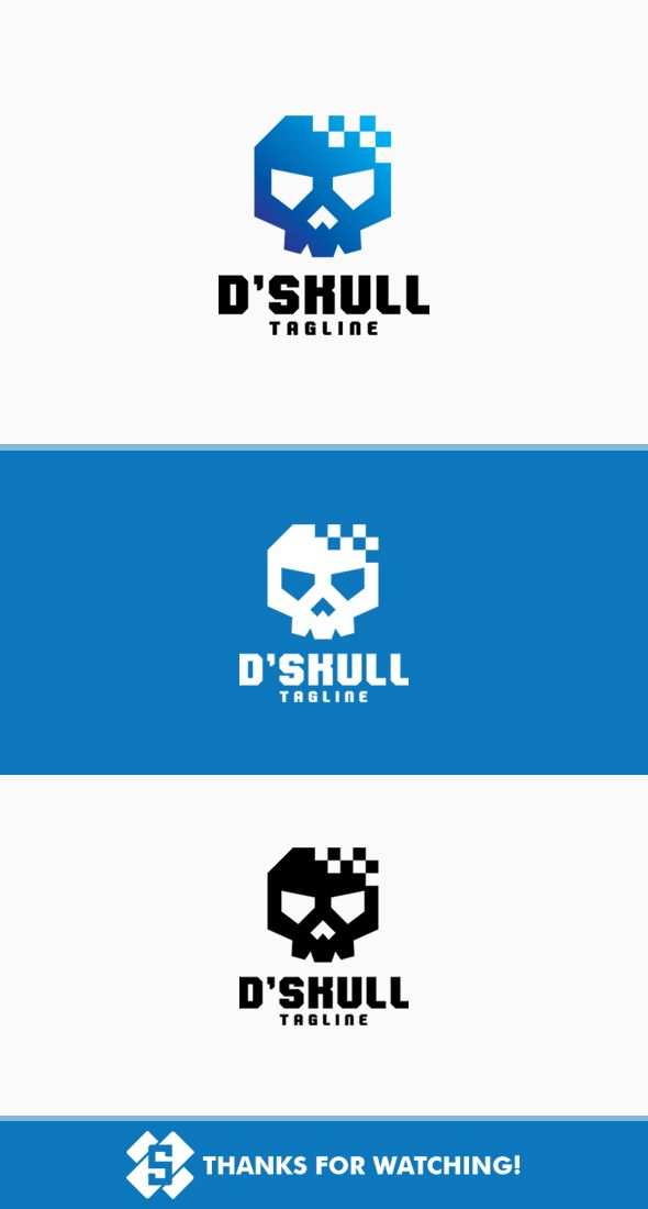Digital Skull Logo Screenshot 1