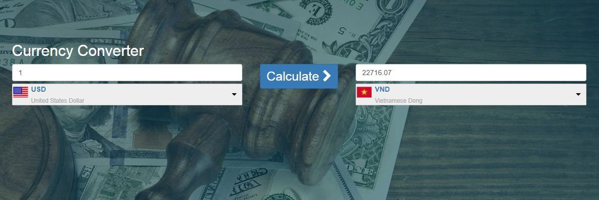 Currency Converter PHP Script Screenshot 2