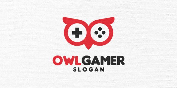 Owl Gamer Logo Template Screenshot 1