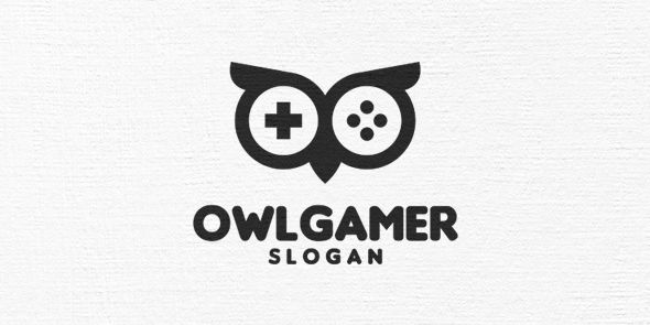 Owl Gamer Logo Template Screenshot 2