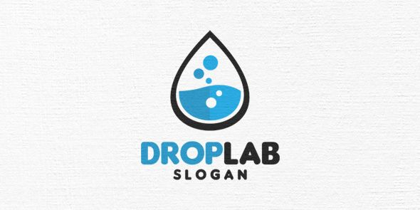 Drop Lab Logo Template Screenshot 1
