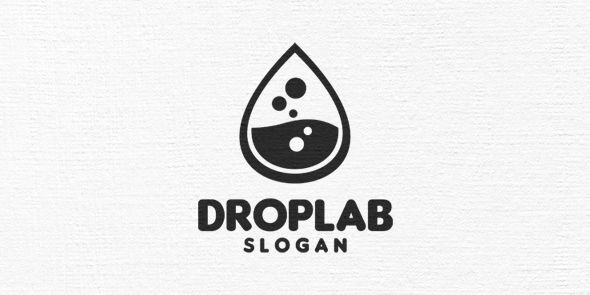 Drop Lab Logo Template Screenshot 3