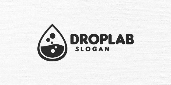 Drop Lab Logo Template Screenshot 6
