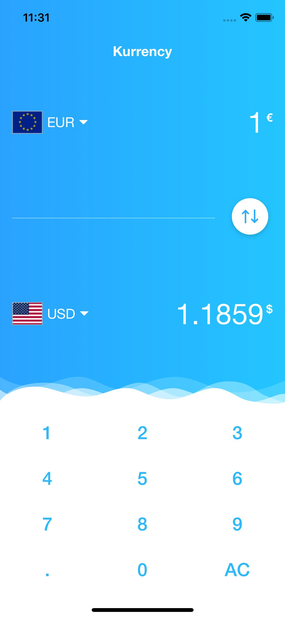 Kurrency - Currency Converter iOS Template Screenshot 2