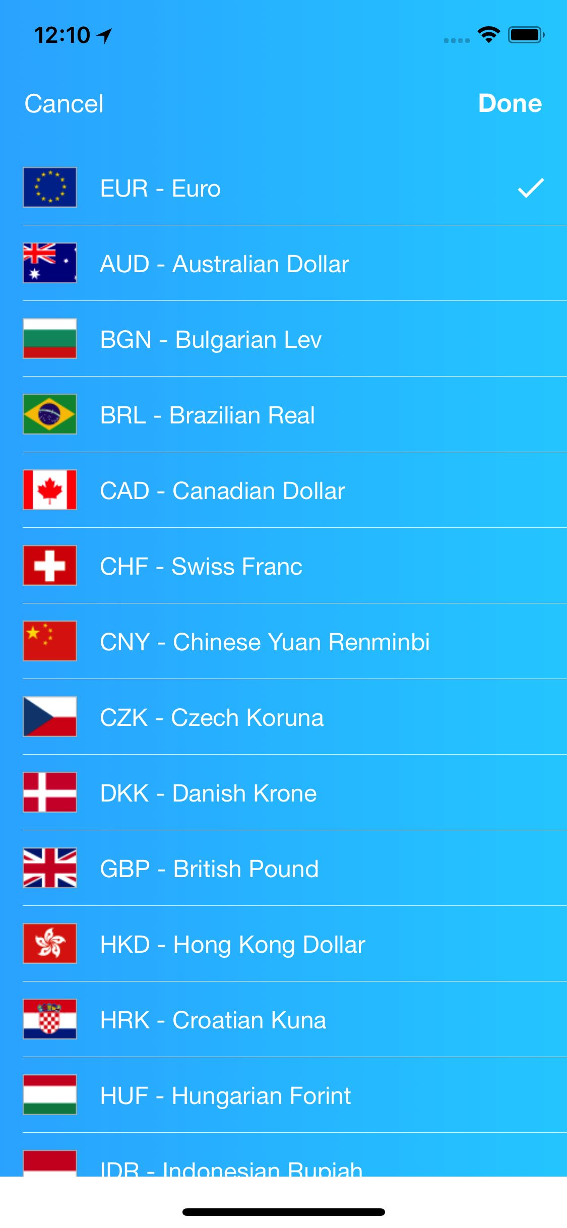 Kurrency - Currency Converter iOS Template Screenshot 3