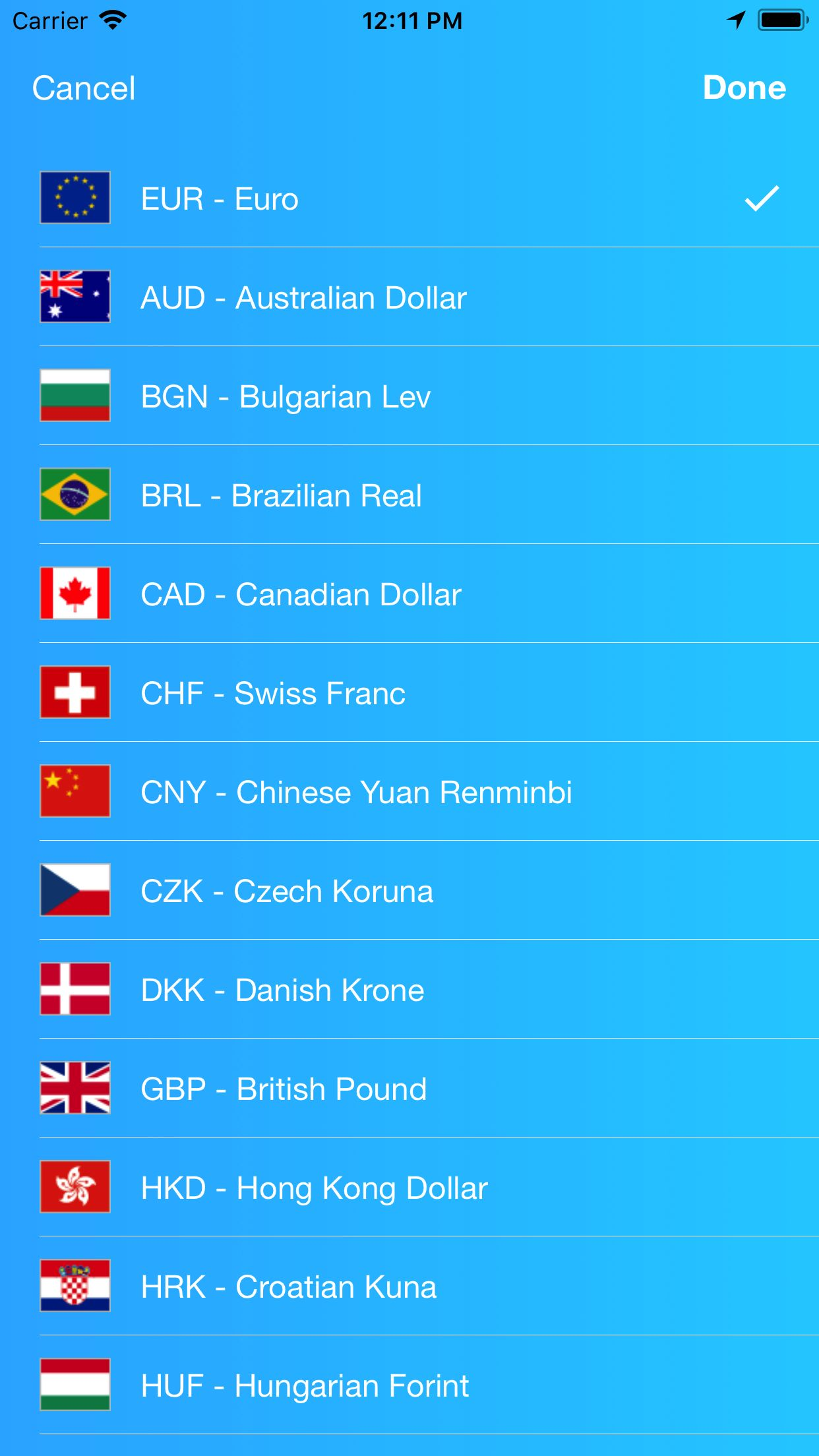 Kurrency - Currency Converter iOS Template Screenshot 6