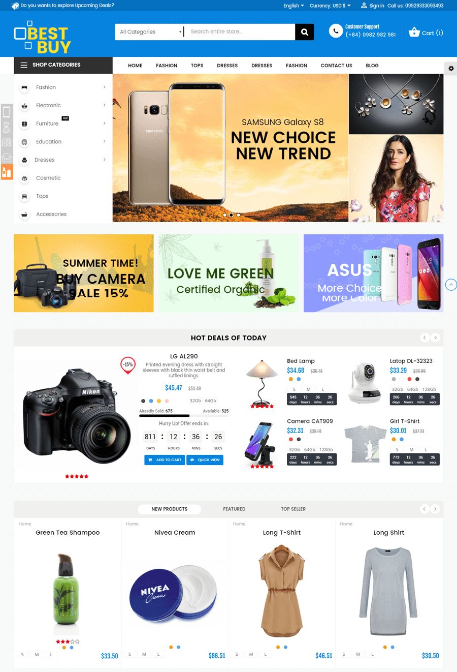 Best Buy PrestaShop Theme Screenshot 1