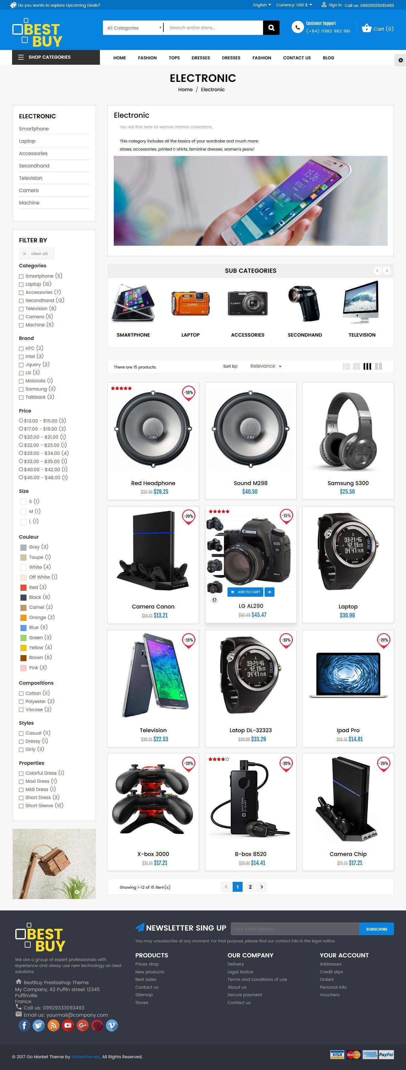 Best Buy PrestaShop Theme Screenshot 4
