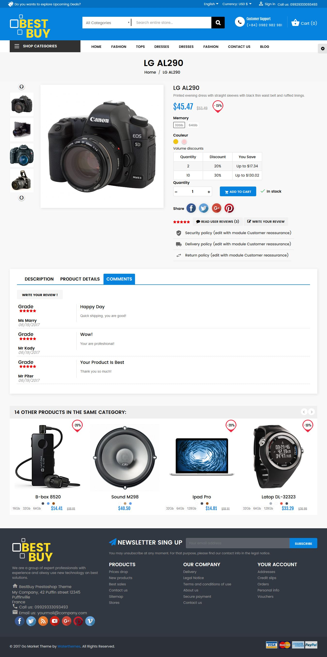 Best Buy PrestaShop Theme Screenshot 5