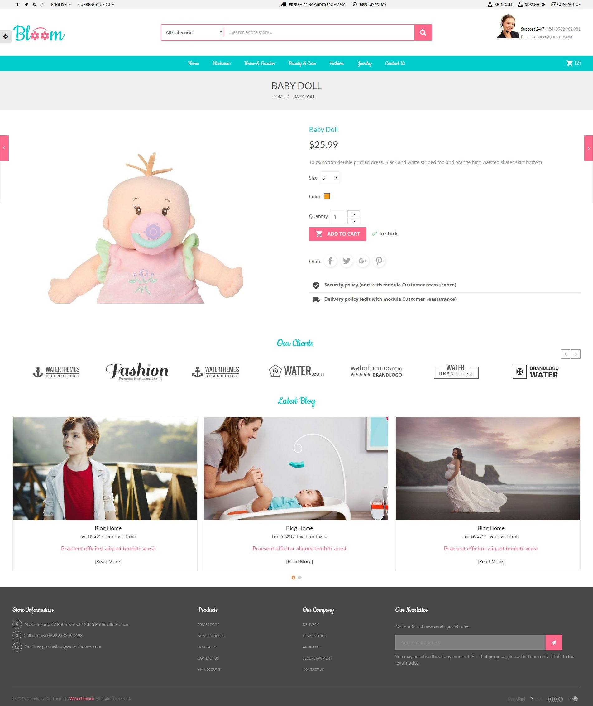 Mom Baby And Kids Toys PrestaShop Theme Screenshot 1