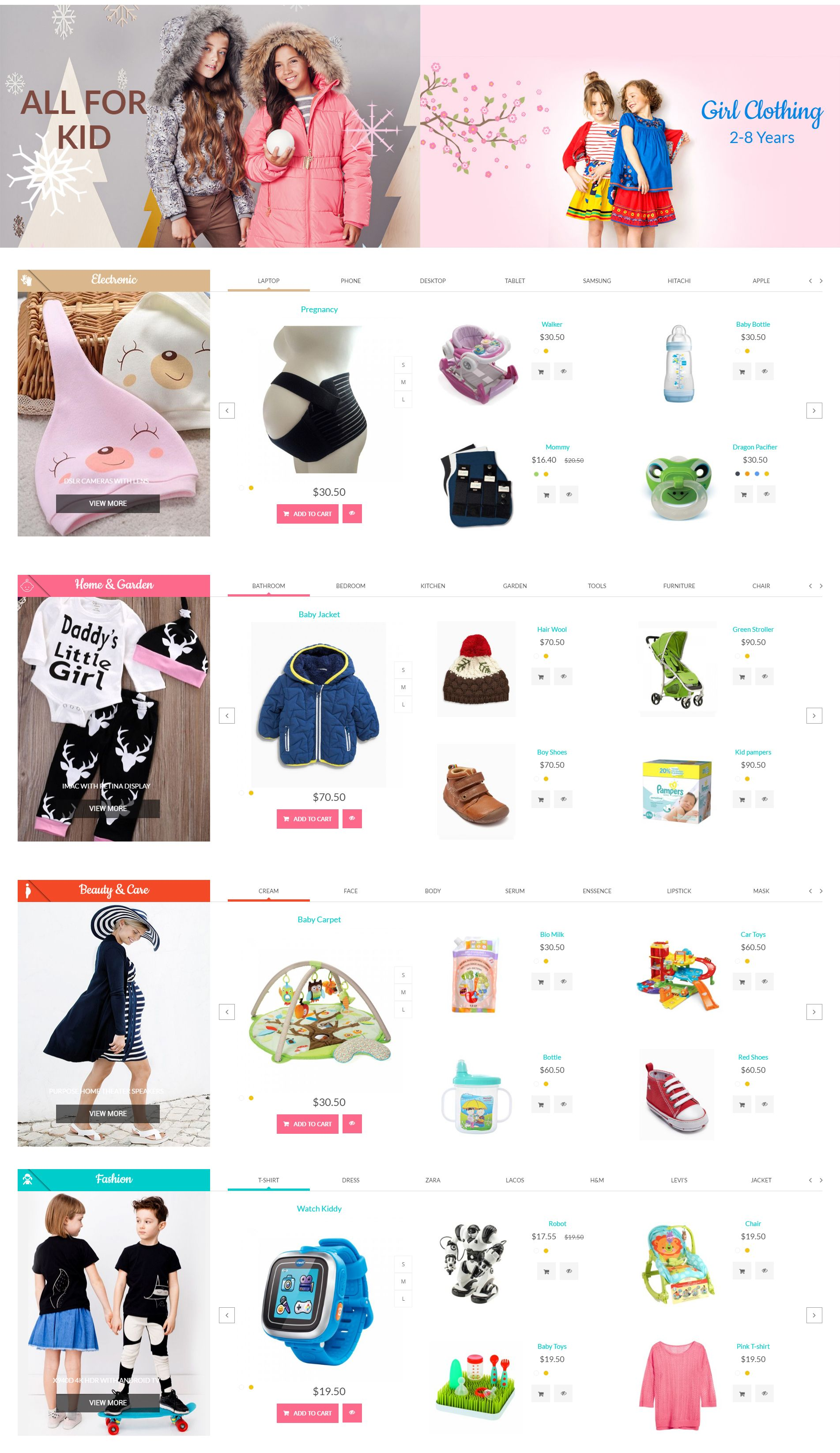Mom Baby And Kids Toys PrestaShop Theme Screenshot 3