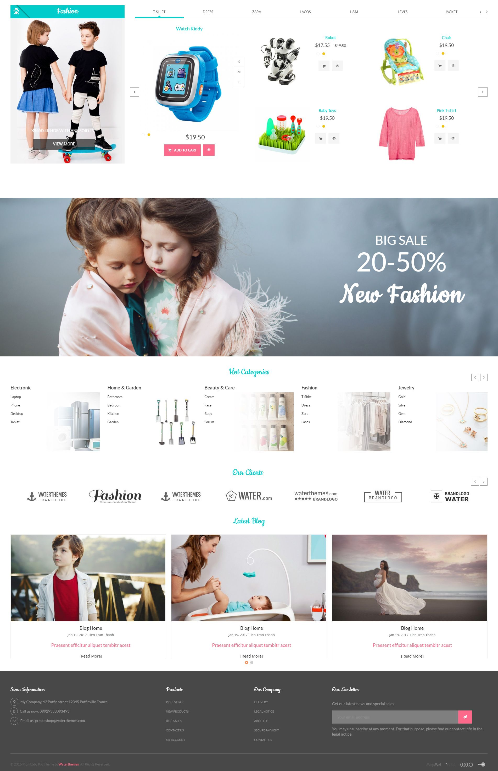 Mom Baby And Kids Toys PrestaShop Theme Screenshot 4