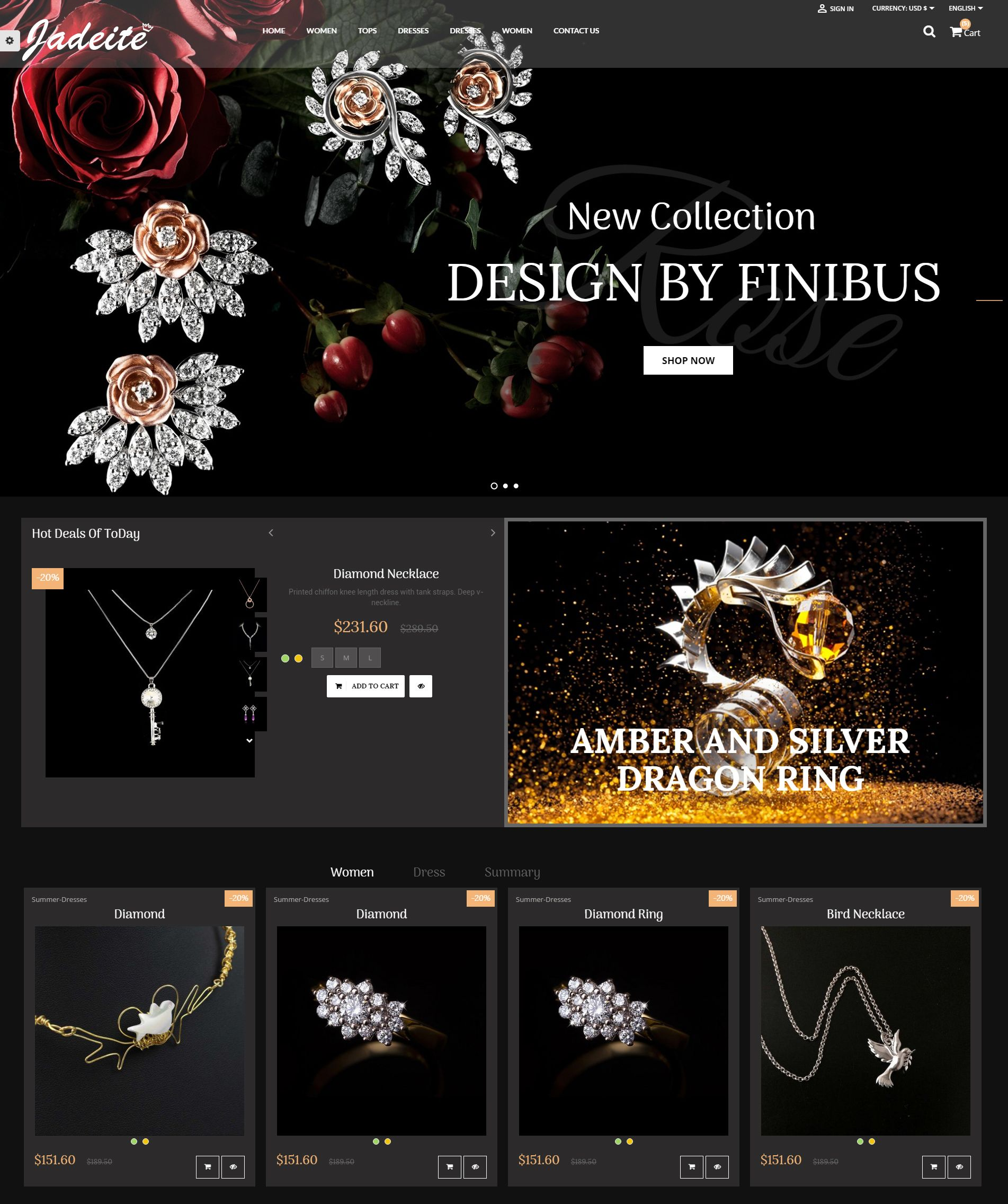 Jewelry PrestaShop Theme Screenshot 3