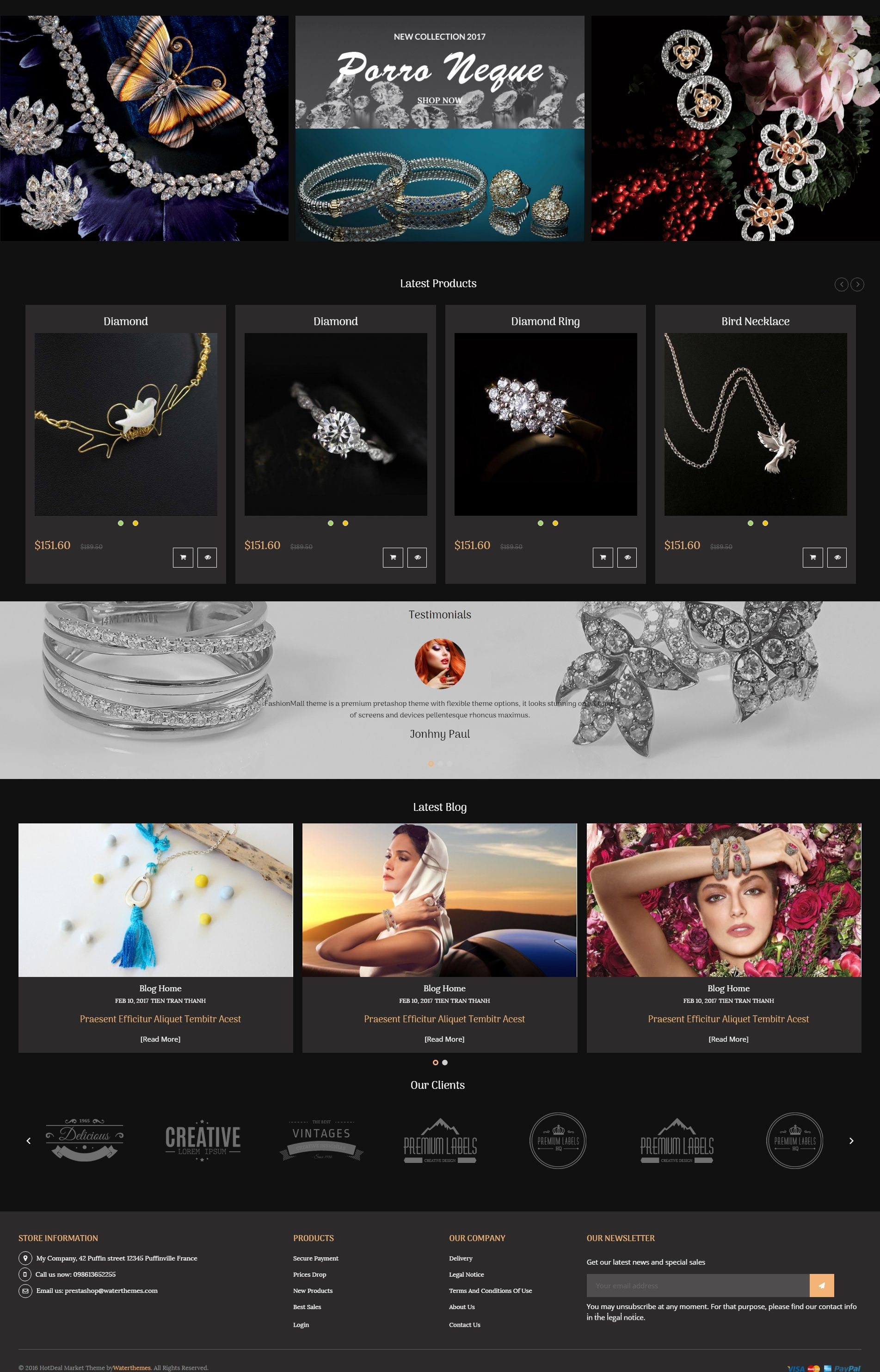 Jewelry PrestaShop Theme Screenshot 4